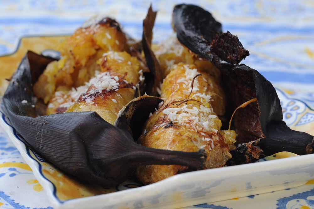 Roasted Plantains with Coconut