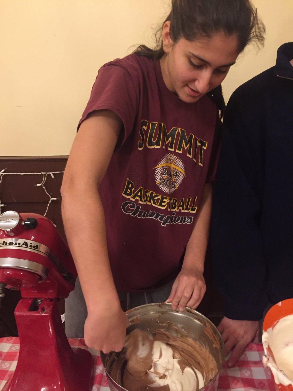 Mixing Chocolate Souffle