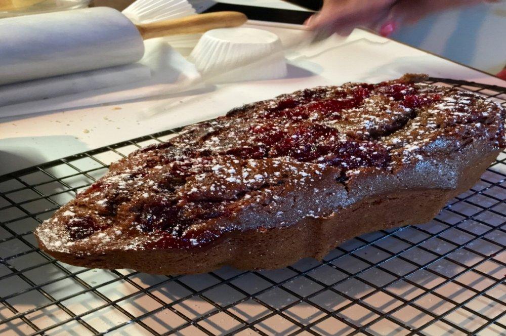 Garam Masala Spiced Cranberry Cake