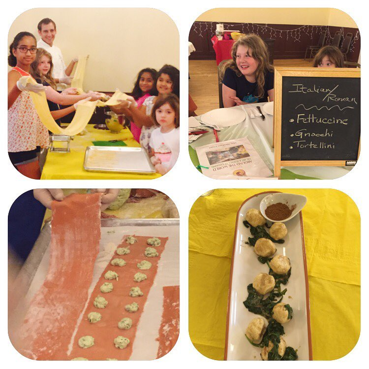Italian Roman Day! At Passion for Spices™ Summer Cooking Camp in Summit NJ.