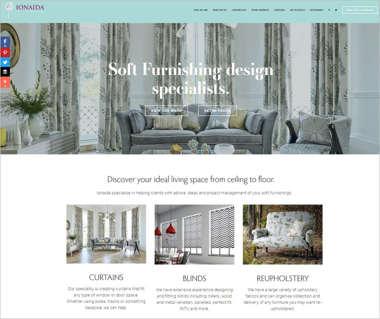 ionaida interior and soft furnishing design website cherry marketing
