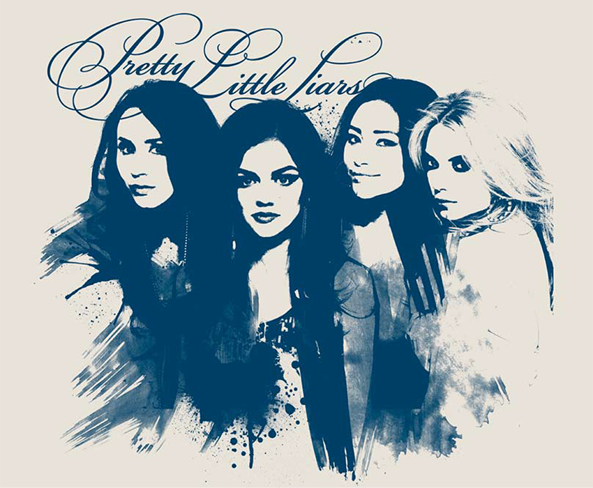 Pretty little liars design of today for Pretty little liars coloring pages