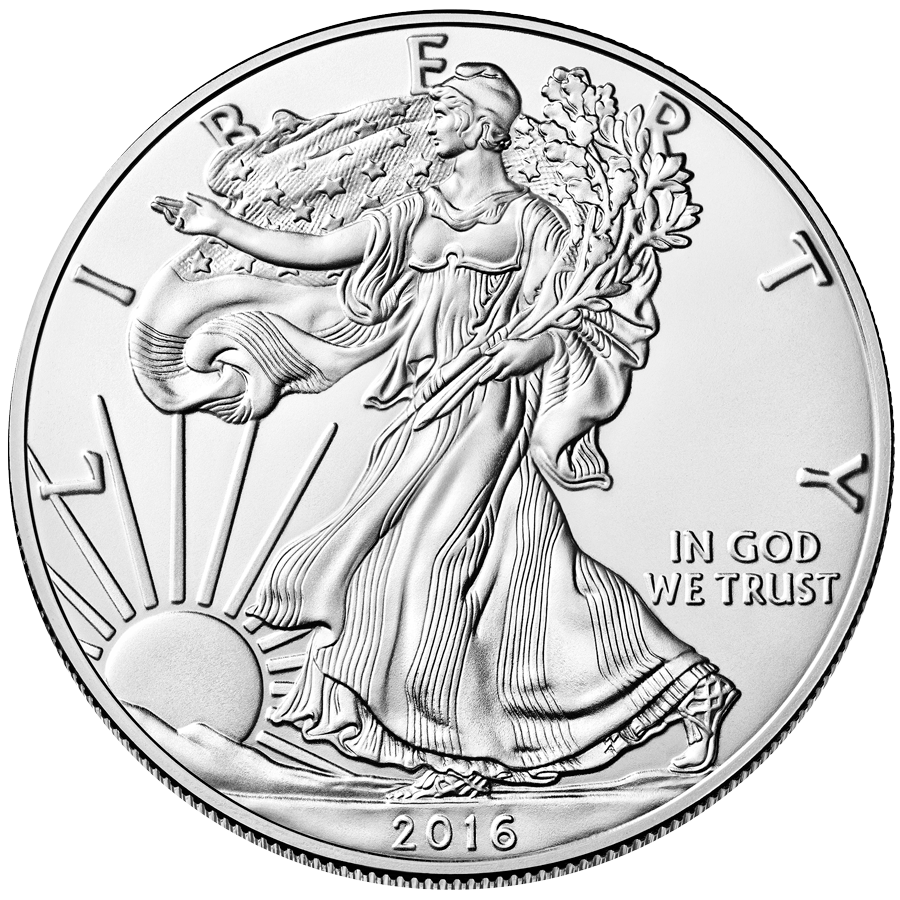 Free one-ounce silver coin for completing this questionnaire - type and date may vary.