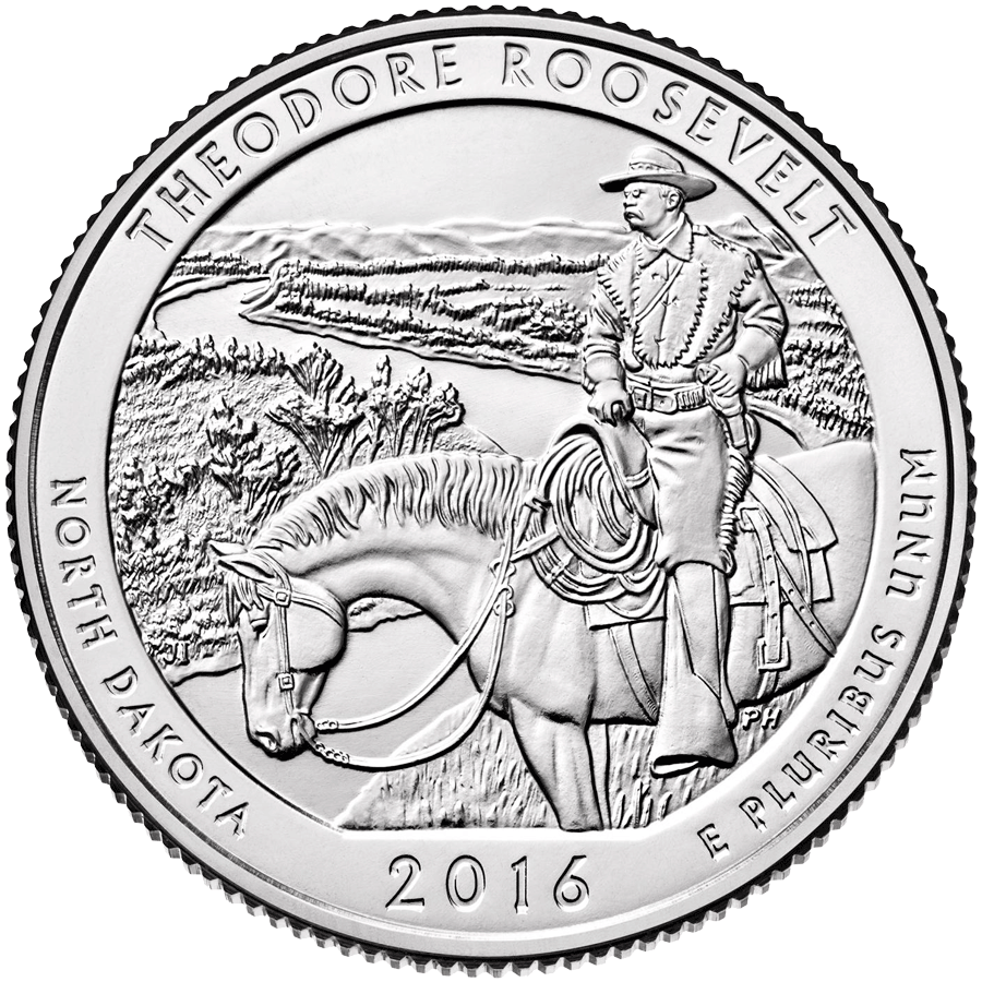 America the Beautiful 2016 series continues - celebrate one of america's greatest presidents with the Theodore Roosevelt national park issue.