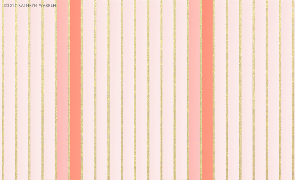 Coco Metallic Stripe (coral)