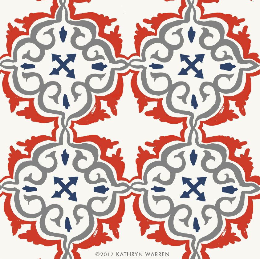 Cote d'Azur Tile (red)