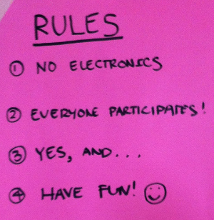 Rules with a positive tone encouraged participants to share their expertise and ideas.