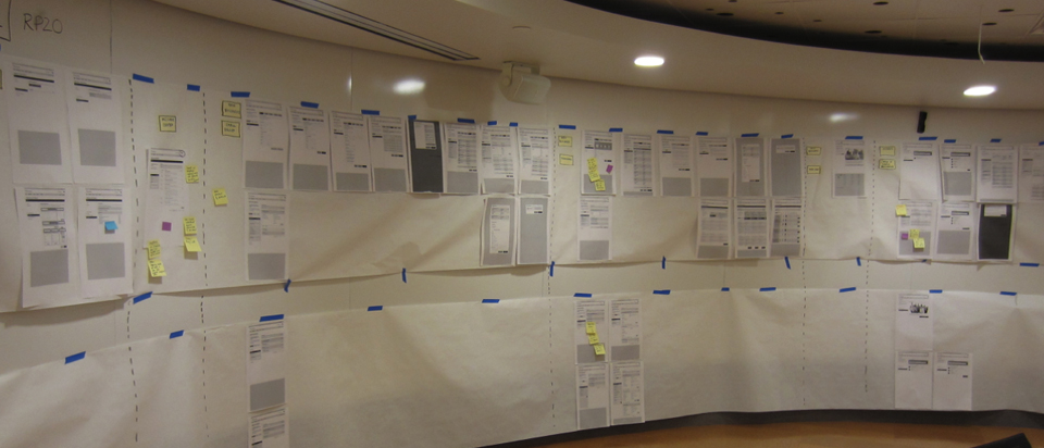 Wireframes for a design review