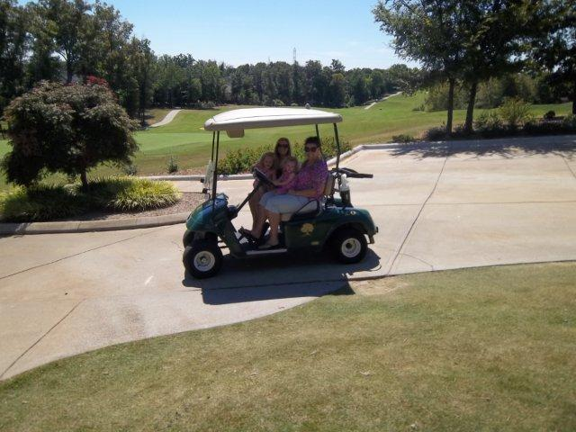 B&B thought the golf cart was so fun!