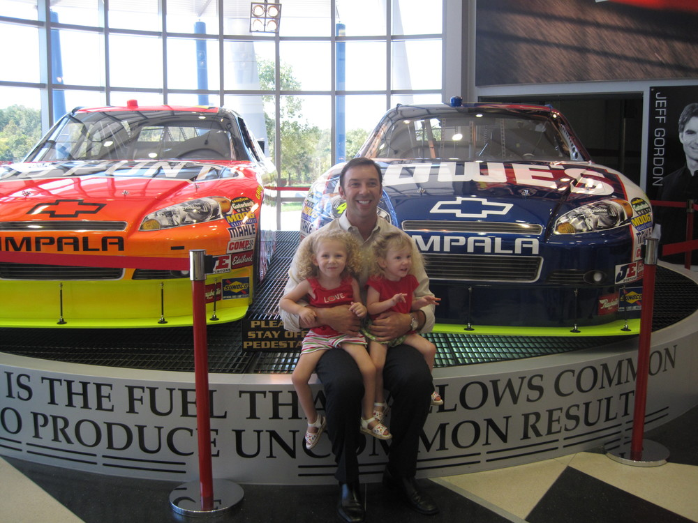Of course while we were in North Carolina, we had to stop in to see our favorite Crew Chief, Chad Knaus!