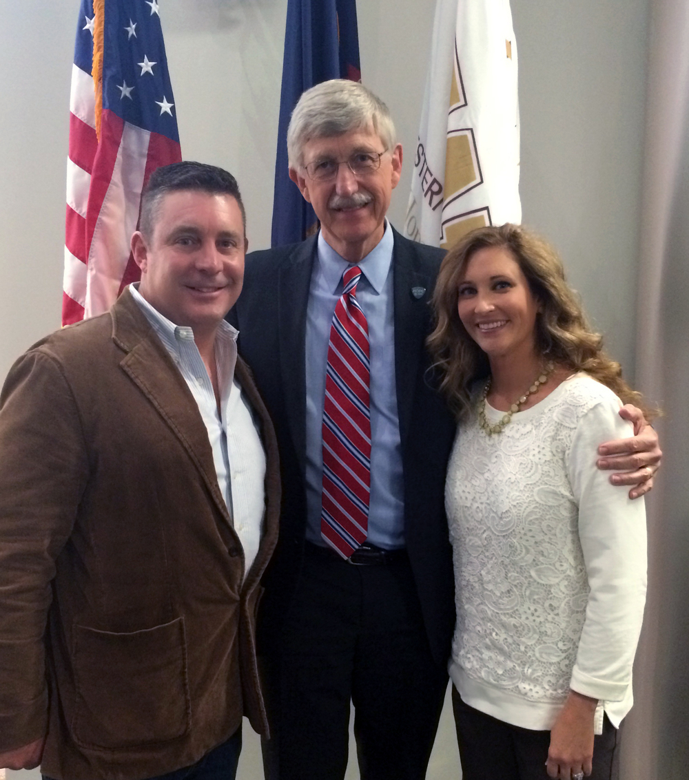 Eric and Sarah with Dr. Francis Collins, Director of the National Institutes of Health.