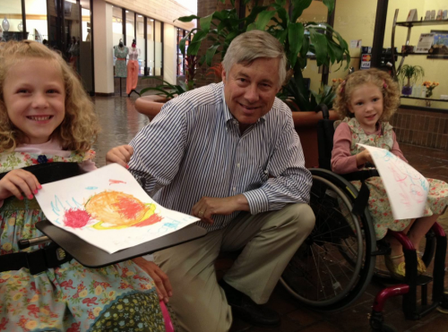 Chairman Fred Upton with the Kennedy girls