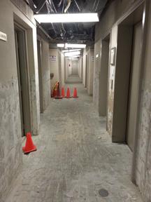 In Progress Flooring Demolition