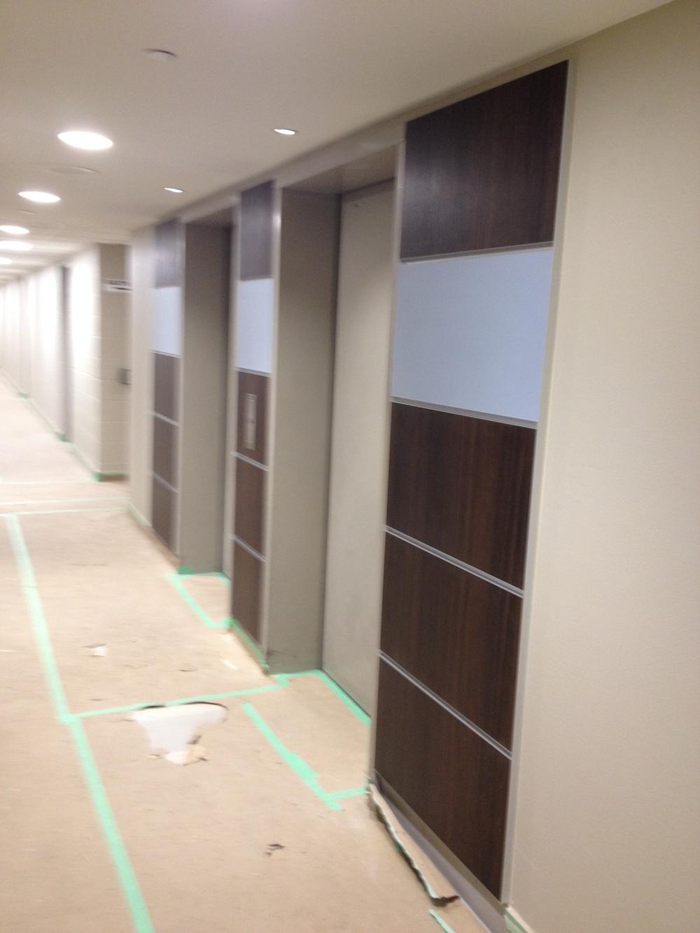 In Progress Elevator Lobby Panels