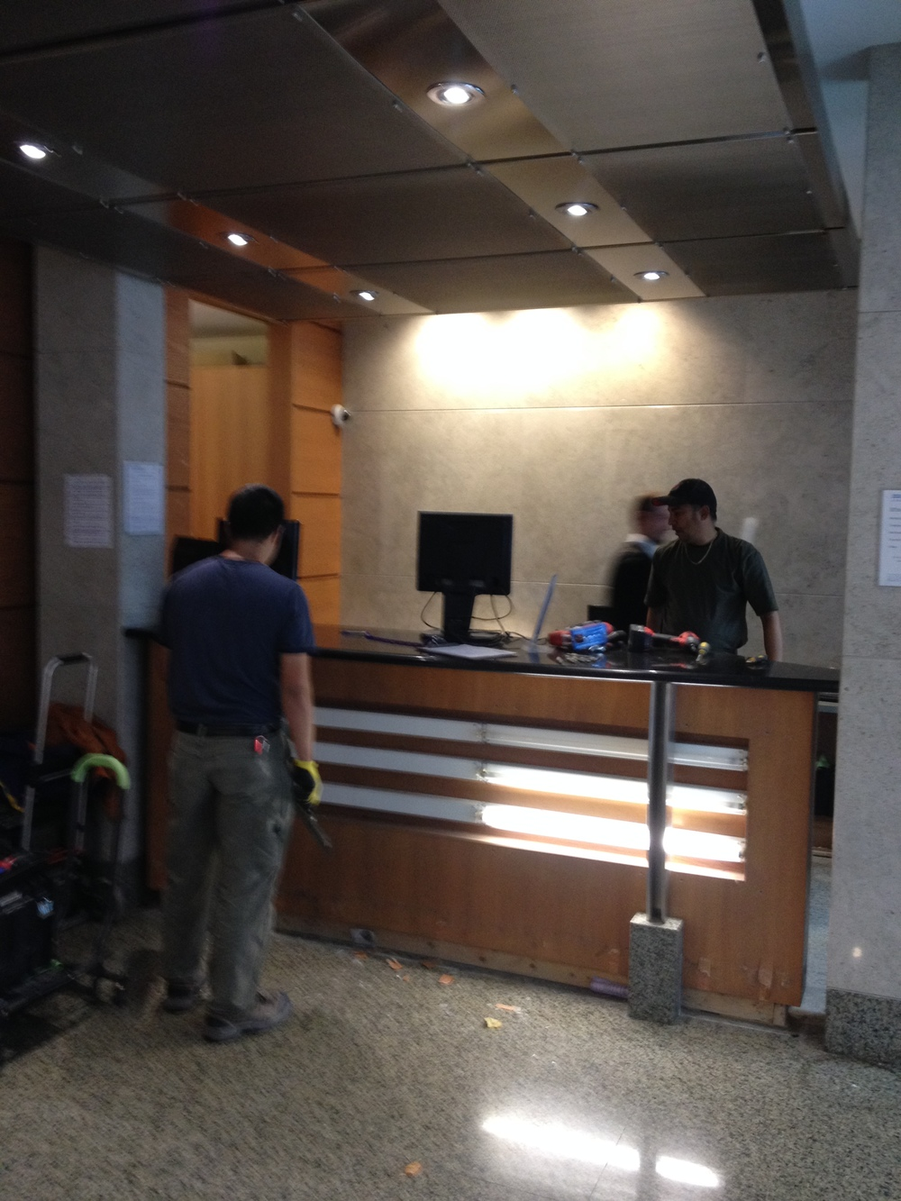Old Security Desk Being Removed