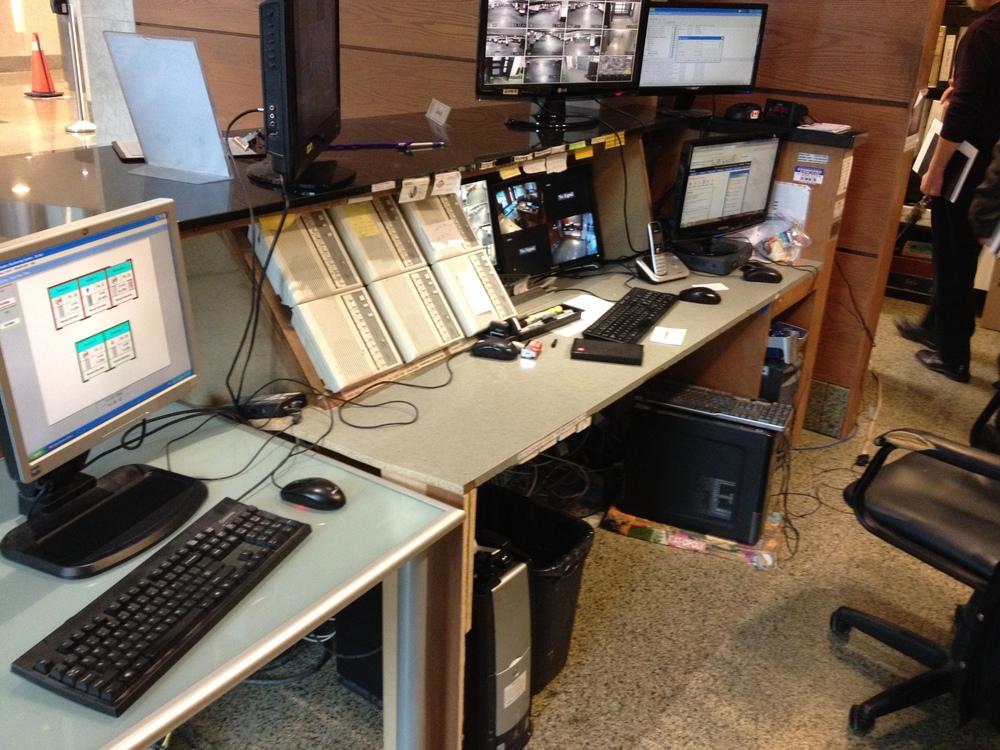 Existing Security Desk Interior