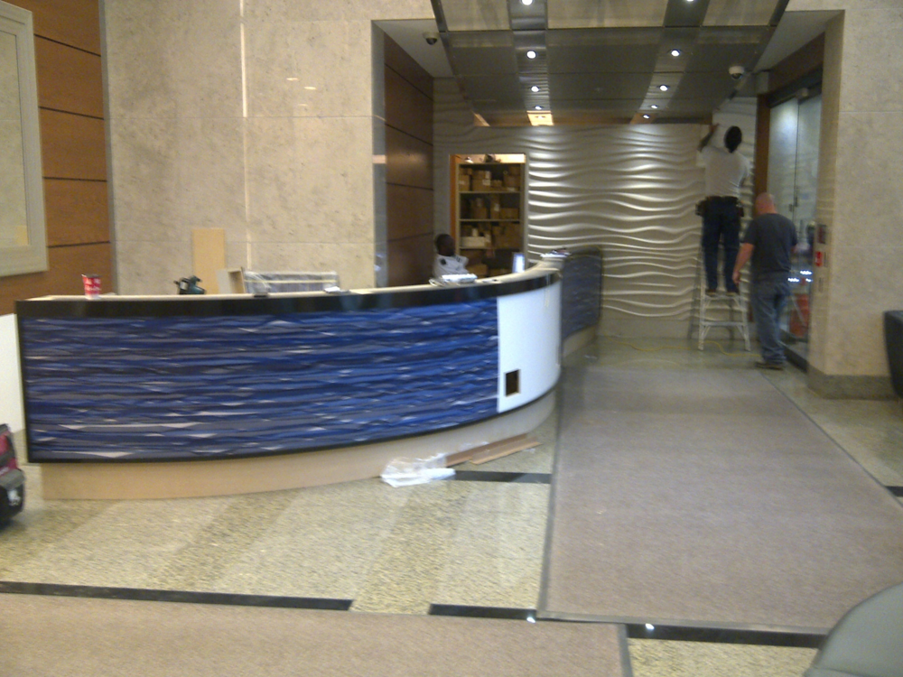 In Progress New Security Desk Installation.