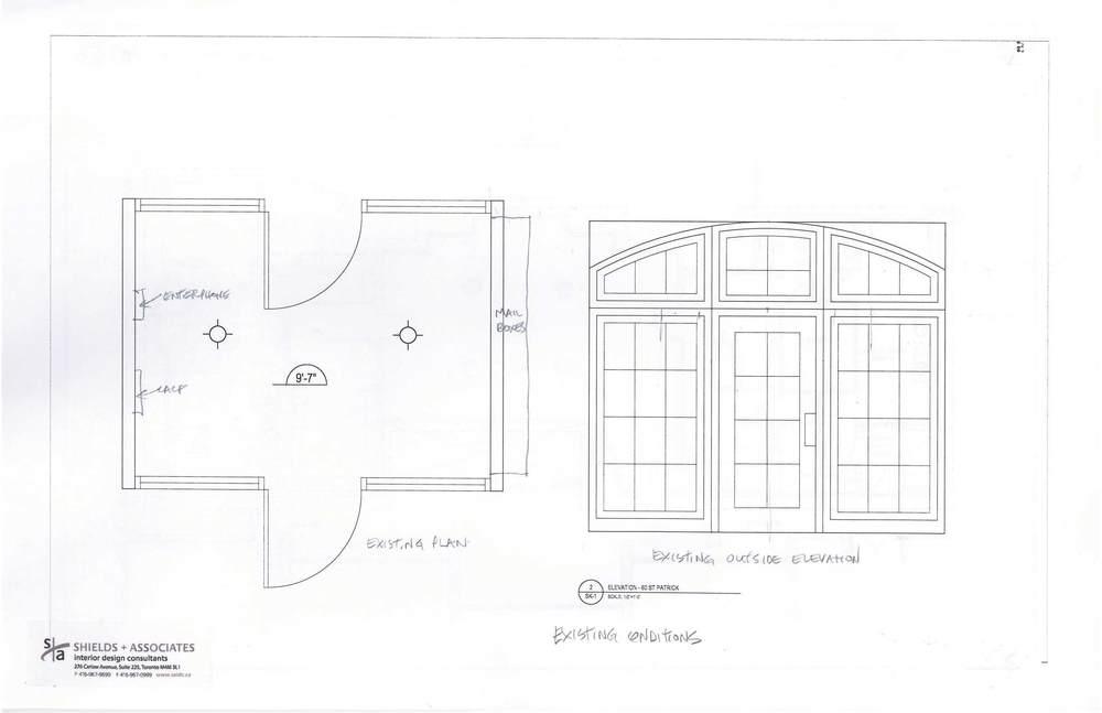 Proposed Sliding Door Entranceway