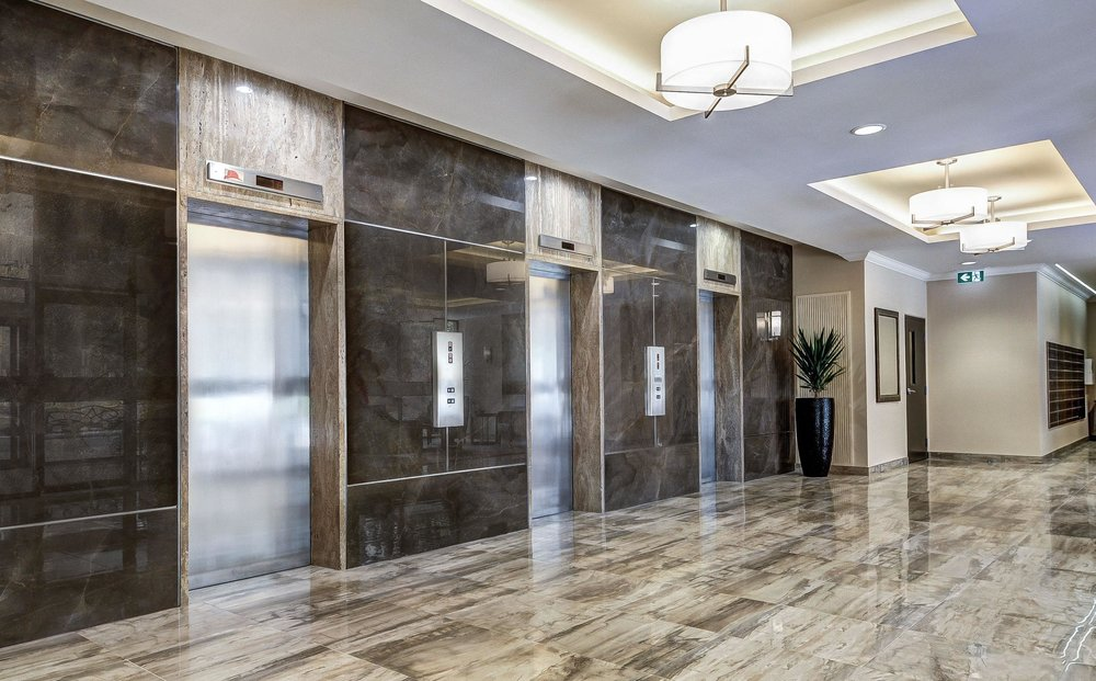 Completed Elevator Lobby & 50 Quebec Avenue u2014 SHIELDS + ASSOCIATES INTERIOR DESIGN CONSULTANTS