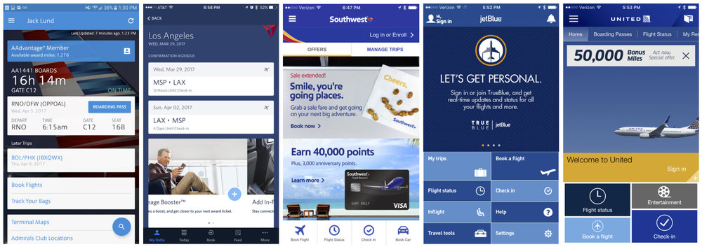 Many of the airline apps looked very similar: blue, boxy and bloated with features and marketing. With fewer destinations, Sun Country could more easily manage and personalize content to the user.