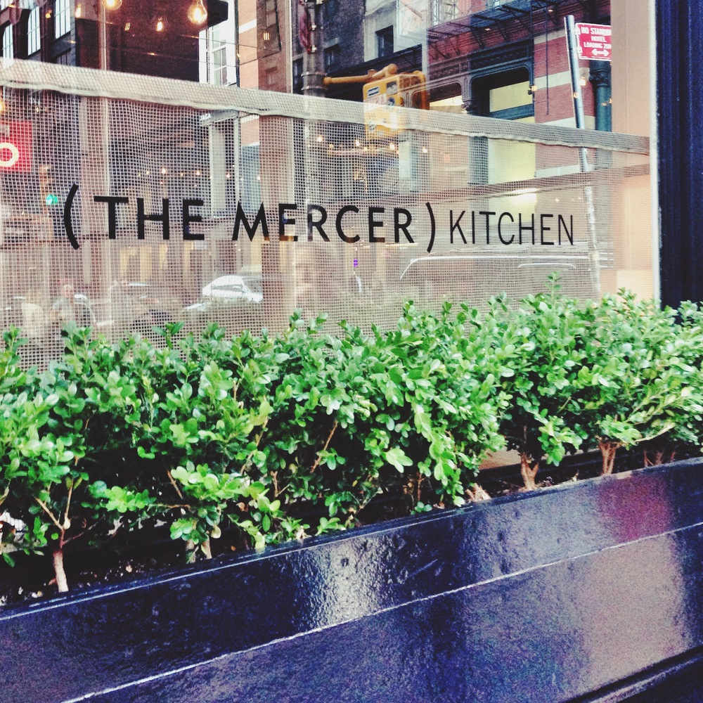 THE MERCER KITCHEN ~ RESTAURANT: SOHO    This is one of my main staples in my neighborhood - I've never had a bad meal here. I've also never sat downstairs in the main restaurant area though - the first floor bar area has such a fun, casual atmosphere, that I always choose that. They have probably the best salad I've ever had: the steamed shrimp salad. I could eat that baby all day every day. The roast chicken is incredible too, as are the mashed potatoes, and OMG the fries... One of my top favorite restaurants in NYC.