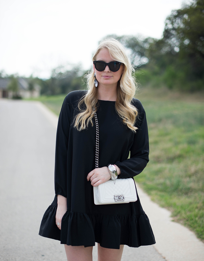 the casual classic blog. flounce dress