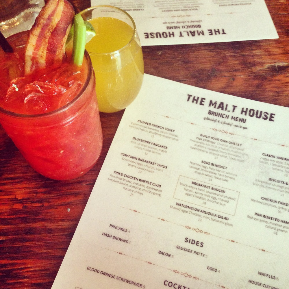 THE MALT HOUSE ~ RESTAURANT: GREENWICH VILLAGE    This is my neighborhood go-to brunch spot, and in my opinion, the best boozy brunch spot in the lower end of the city. $15 for all you can drink delicious cocktails such as mimosas, bloody marys (bacon included), screwdrivers and more, for 4 hours! How can you beat that? Their evening atmosphere is great too - super casual and chill if you're looking for a first date spot or to meet a friend for after work drinks. Their food isn't half bad either!