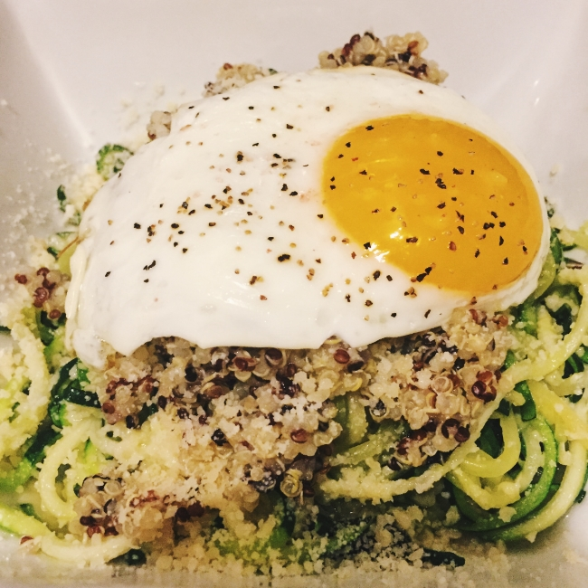Zucchini Noodles with Quinoa // The Casual Classic