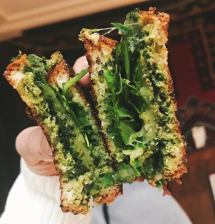 Arugula Pesto Grilled Cheese