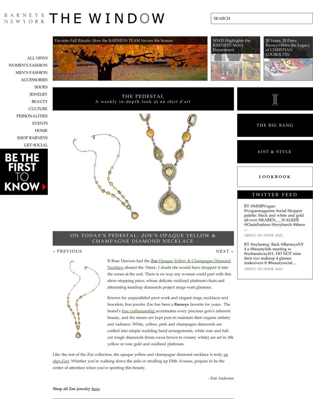 ZOE's Opaque Yellow & Champagne Diamond Necklace | Barneys New York The Window-1.jpeg