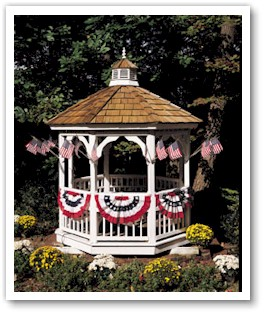 Transform your yard or garden with small fans and Verona Brand stick flags. Small Fans & Stick Flag Decorate this Gazebo