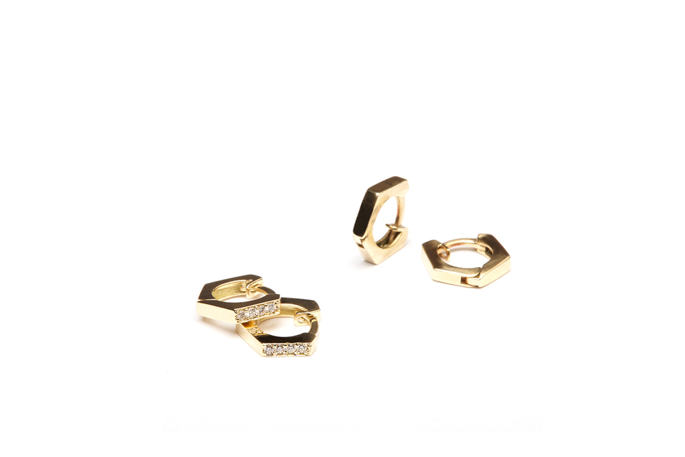 diamond nut earing, nut earing