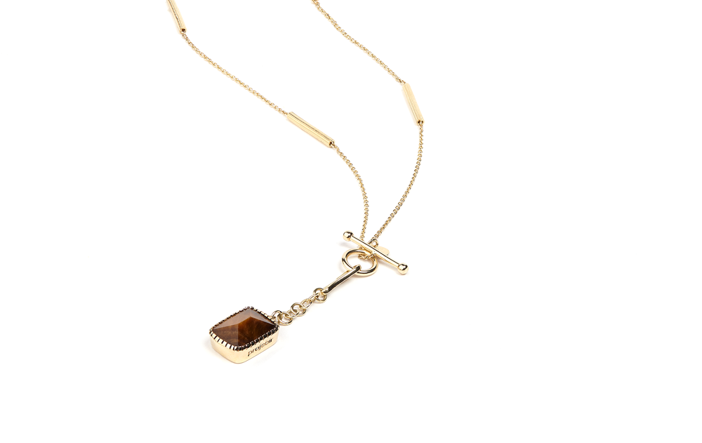 long chain with tiger eye