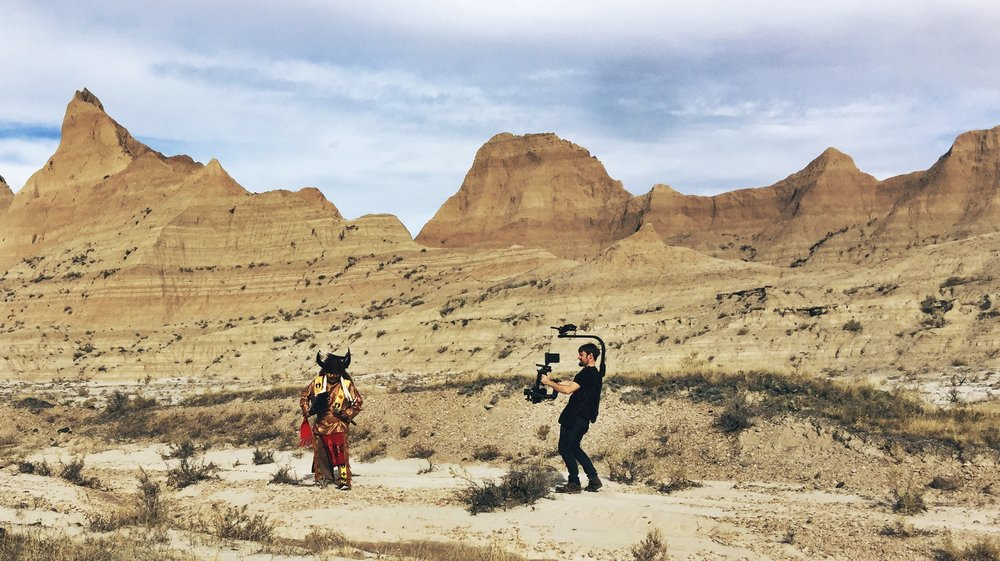 Filming in the Badlands