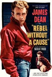 James Dean - T-shirt and red jacket was a hit from the movie Rebel Without A Cause (1955)