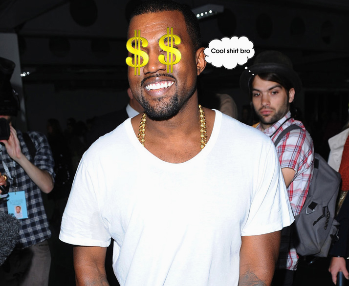 Kanye released a white t-shirt for hundreds of dollars and it had high demand!