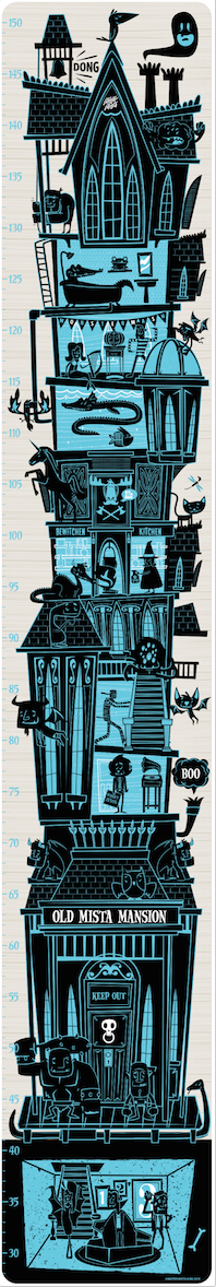 Mister Mista Mansion height chart £39.50 Chocovenyl
