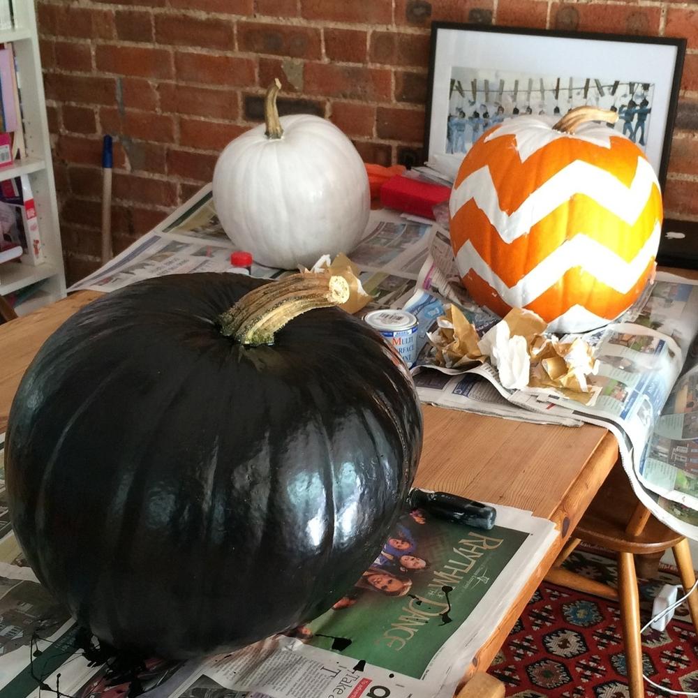 chevron stripe pumpkin