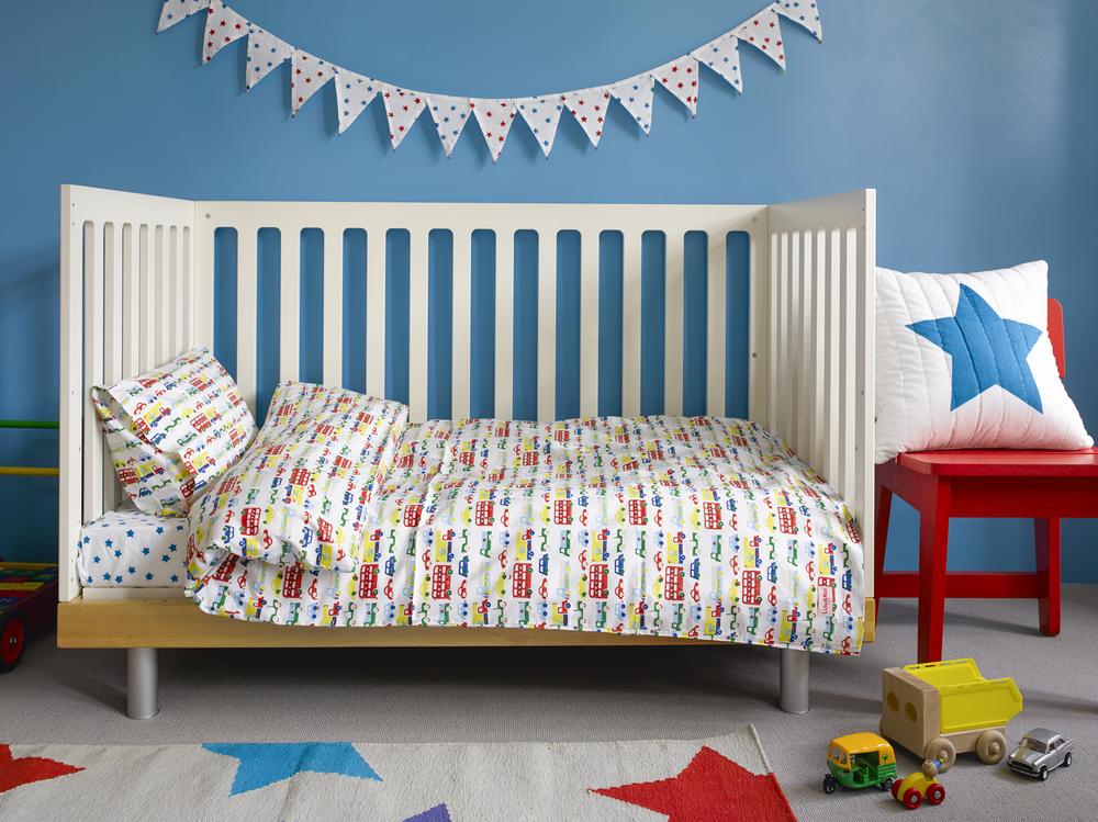 Car and buses toddler cot bed duvet set £49