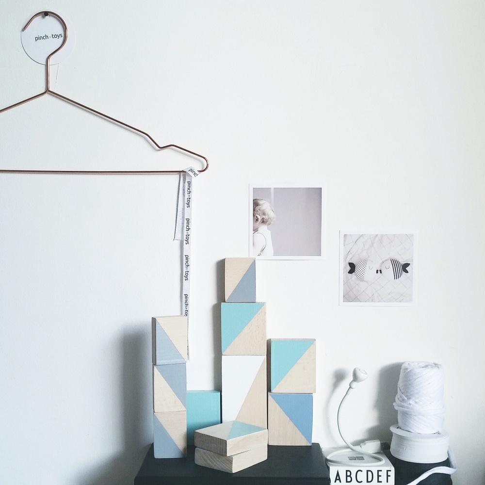 pastel triangle blocks