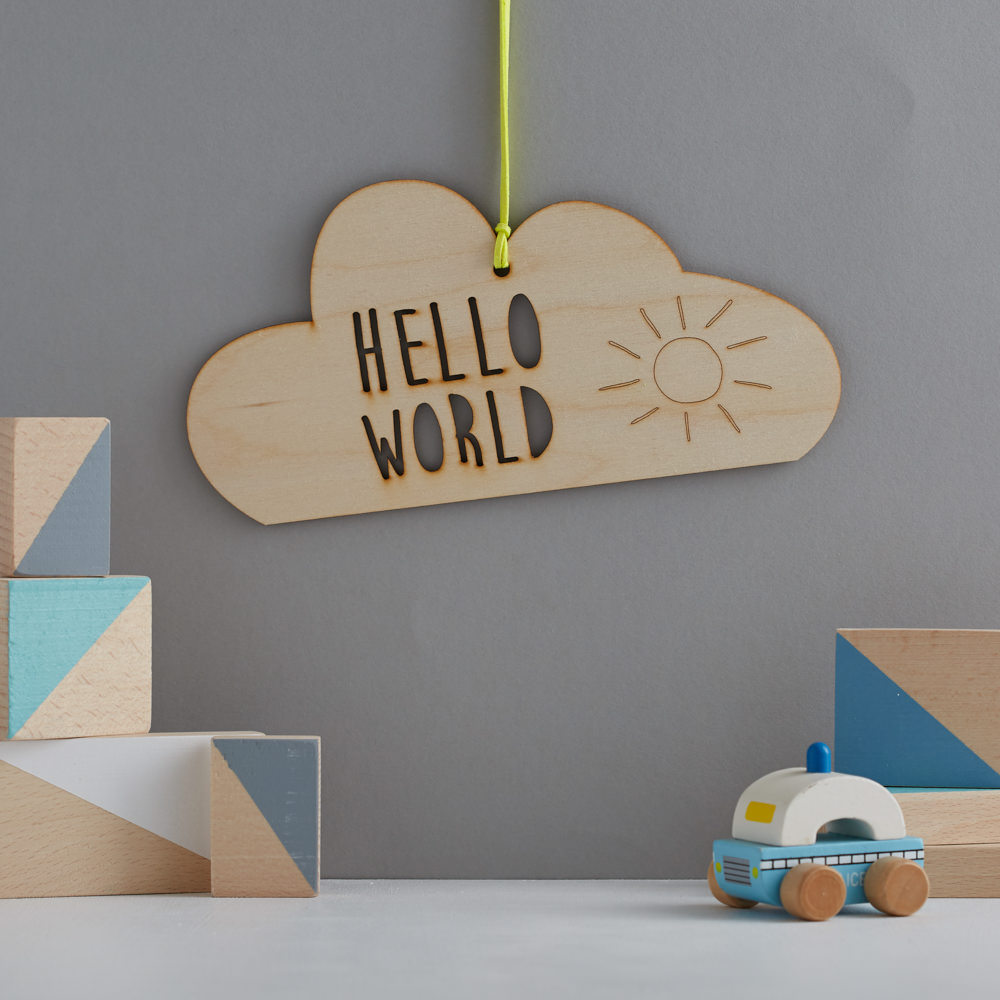 scamp wooden cloud mobile