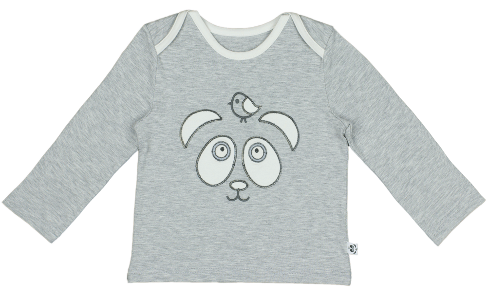 panda and the sparrow grey top