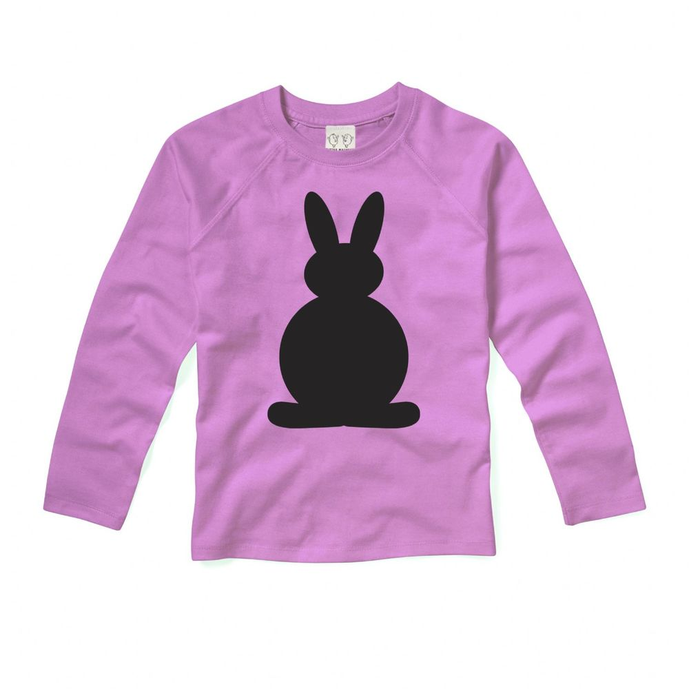 Little Mashers Pink long sleeve chalkboard bunny top