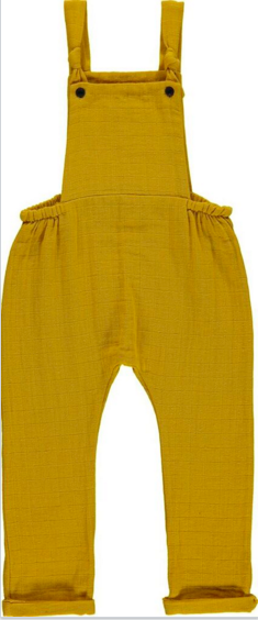 The Wee Department Store kids Carlota Barnabe mustard yellow jumpsuit