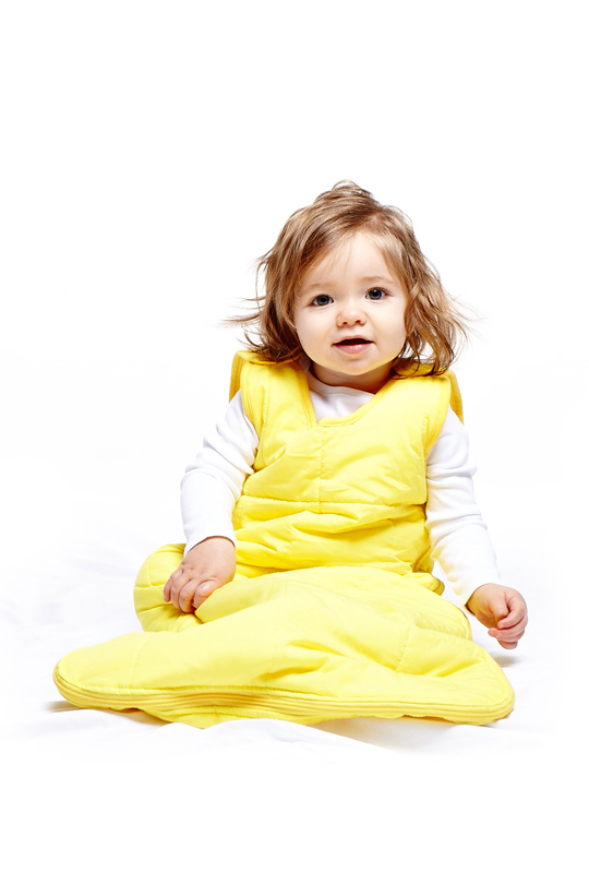 My baby's Name Is yellow sleeping bag