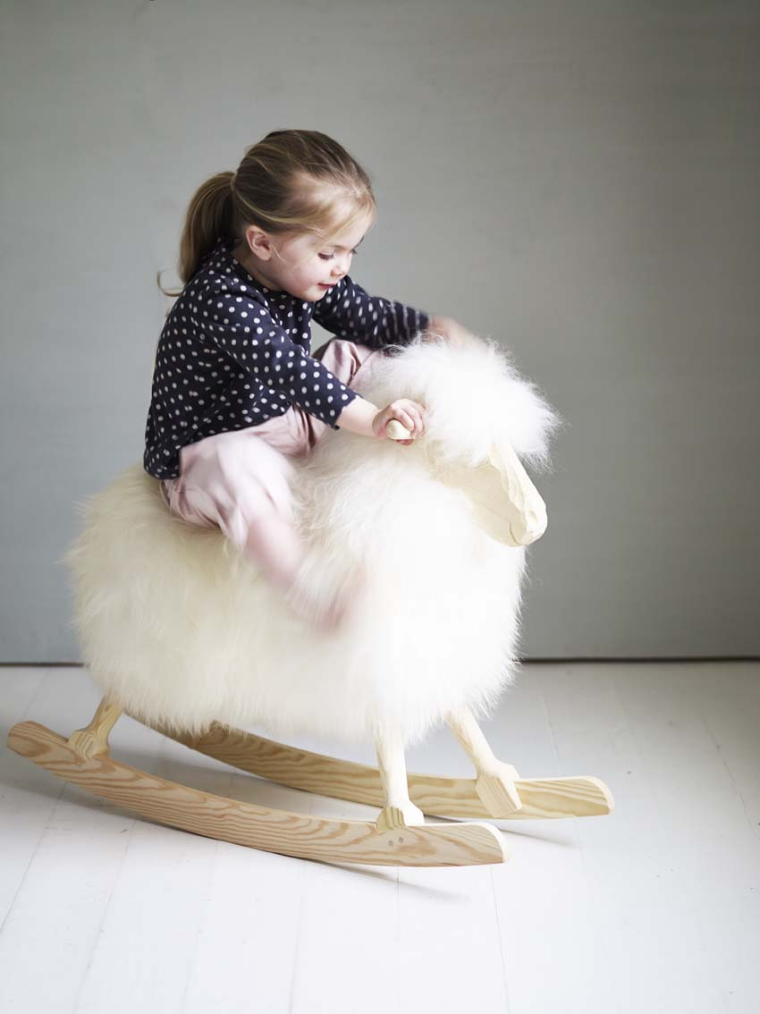Rowen and Wren sheep rocker