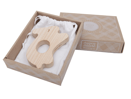 Lullabuy Wooden Story wooden rabbit teether for babies