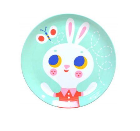 The Wee department Store Psikhouvanjou melamine plate – Rabbit