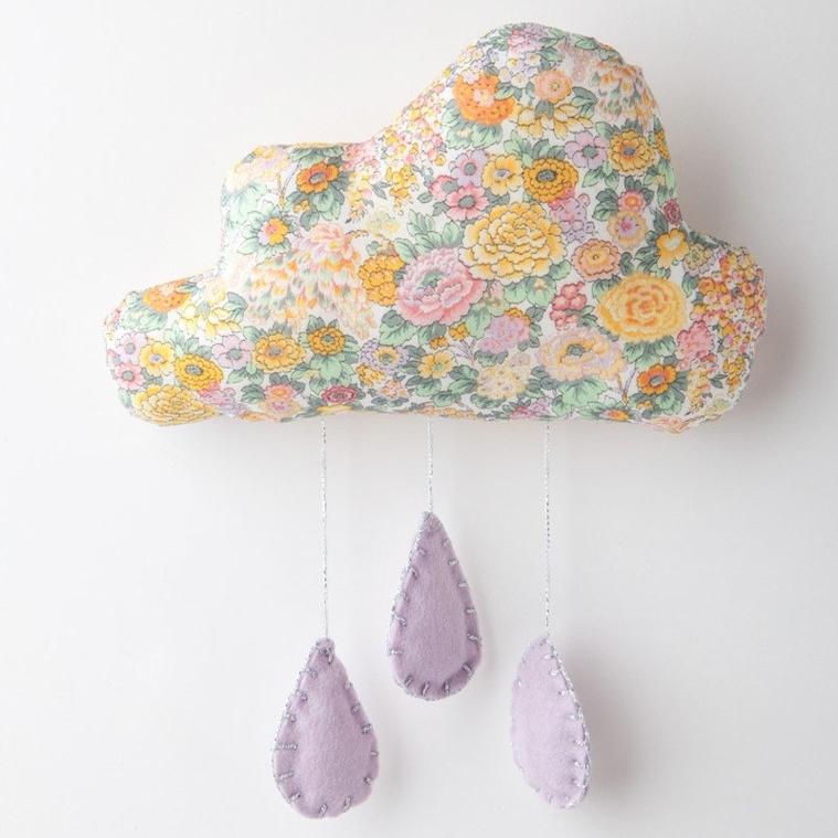 Willa and Bobbin cloud mobile Liberty print