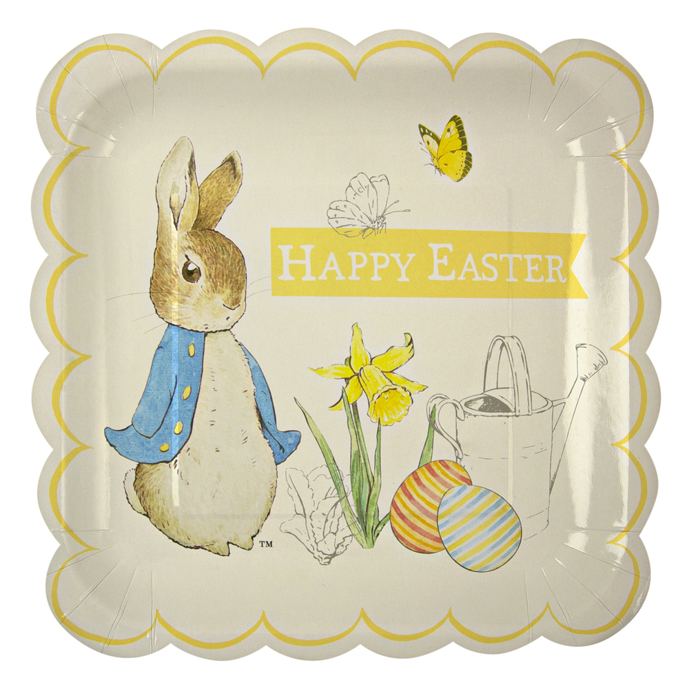 Part Ark Peter Rabbit party plates